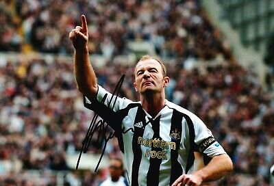 Alan Shearer Signed 12X8 Photo Newcastle United F.C. Genuine AFTAL COA (A)