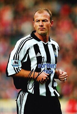 Alan Shearer Signed 12X8 Photo Newcastle United F.C. Genuine AFTAL COA (B)