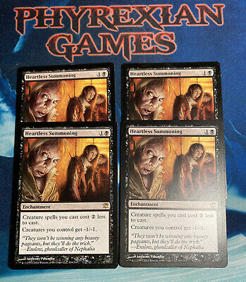 Black Innistrad Mtg Magic Rare 4x x4 4 Heartless Summoning