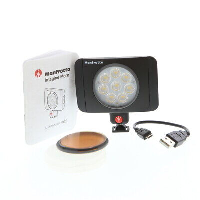 Manfrotto Lumie Muse, 8 LED Light,550 Lux Dimmable (MLUMIEMU-BK) LM