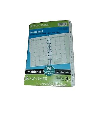 """Traditional Monthly Tabbed Calendar Refill Desk Size 4 (5.5 x 8.5"""")"""