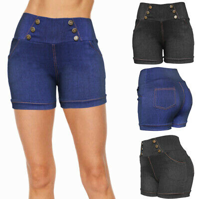 Women Summer Casual Fitted Stretchy Shorts - Hot Pants