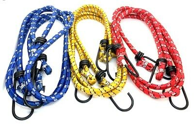 """6 PCS 30"""" Long Bungee Straps Cords with Metal Hooks Stretch Elastic Bungee"""