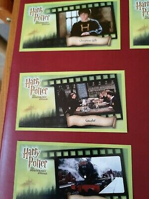 5 Harry Potter and the Sorcerer`s Stone Movie Cards MINT CONDITION