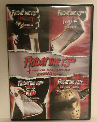 Friday The 13th 4-Movie Collection DVD 2017 4-Disc Set Canadian Parts 1-4