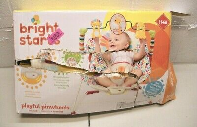 Bright Starts Playful Pinwheels Bouncer with Vibrating Seat *box damage only*