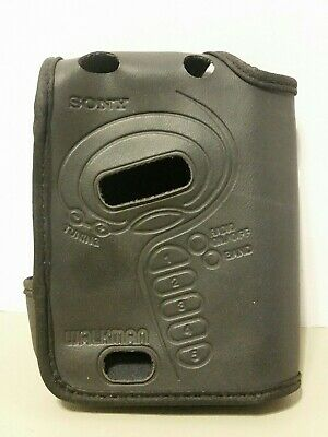 Vintage Sony Walkman Leather Carrying Case Cover with Belt Clip
