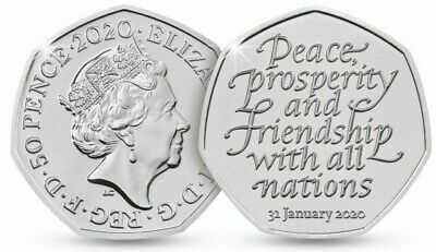 2020 Brexit 50p coin. Upto 8% off + Free Post