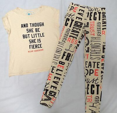Gap Kids girls ED Ellen Degeneres Little Fierce top XL print leggings pants XXL