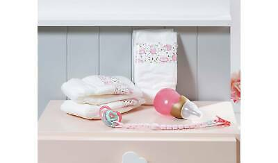 zapf BABY Annabell Doll Accessories Set,nappies, dummy & baby bottle,toys bundle