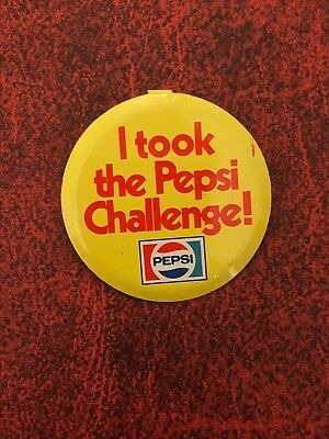 Vintage Pepsi I Took the Pepsi Challenge! Fold Over Advertising Button 1-1/2""