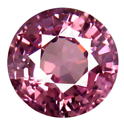 0.68 CT AAA + Charmant Forme Ronde (5 X 5 mm) Rose Malaya Grenade Naturel Gemme