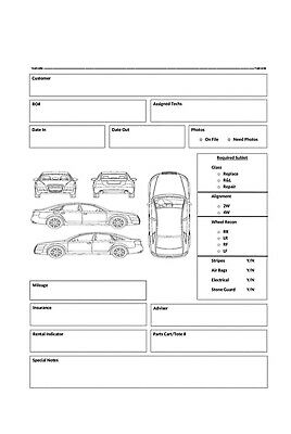 Finish Pro Autobody Work Flow Sheets 100ct Roll FPR-WFS-1