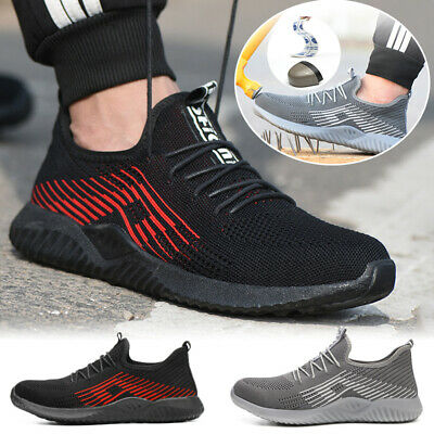 Men Safety Shoes Trainers Boots Steel Toe Cap lightweight Men Sneaker Hiking UK