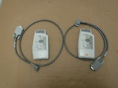 2X PHILIPS M2601B EASI ECG SPO2 - Telemetry Transmitter Module With Lead