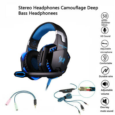 New Gaming Headset with Mic Headphones for PC Laptop PS4 Slim Pro Xbox One S X