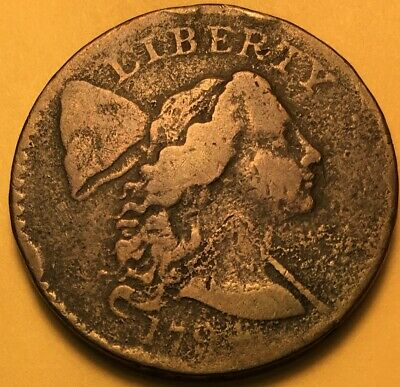 """1794 Flowing Hair Large Cent S-24 , """"Apple Cheek"""", R-2 Very Good Details"""