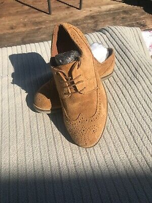 Boys Next Suede Leather Brogues Shoe Size 3 (worn Once)