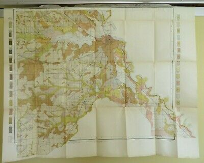 1861 SOUTHERN STATES SLAVE MAP BOSSIER CADDO CALCASIEU CALDWELL PARISH LA huge