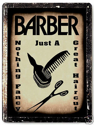 Vintage Barber Shop metal Sign Hair stylist / retro antique style wall decor 007