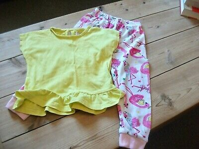 Girls  Cuffed Bottoms & Top Outfit  Age 2- 3 Years