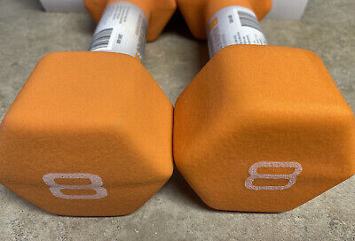 CAP Hex Neoprene 8lb Pound Pair Dumbbell Weights - NEW SET OF 2 Ships Today Free