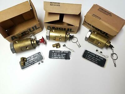 Ansul 24479 Lot of 3 Checkfire Auto/Manual Actuator Assembly