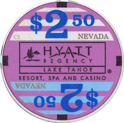 Hyatt Lake Tahoe, Lake Tahoe $2.50 Casino Chip MINT