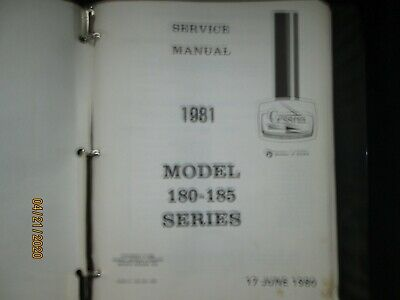 1981 Cessna Model 180 - 185 Series Aircraft Service Manual Factory Original