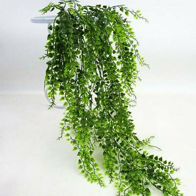 Artificial Hanging Plants Fake Succulents String of Pearls Green Flower Vine Ivy