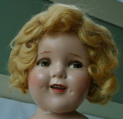 "Vintage 1930s 18"" Compo Ideal Flirty Eye Make Up Shirley Temple Doll NUDE"