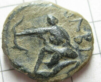 Ancient Greek coin halk Archer 5-4 century BC Nothern Black sea Olbia