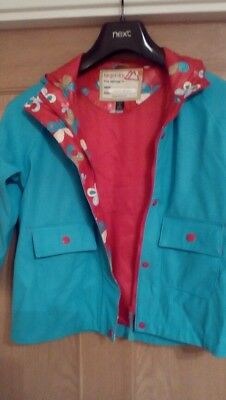 Target dry age 3/4 girls jacket blue pink poppers, hooded pretty and practical
