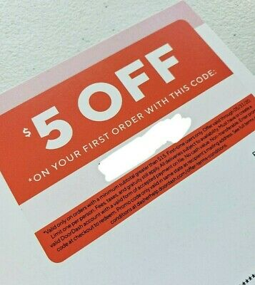 DoorDash Coupon $5 Off On Your First Order Promo Code Offer Savings New Account