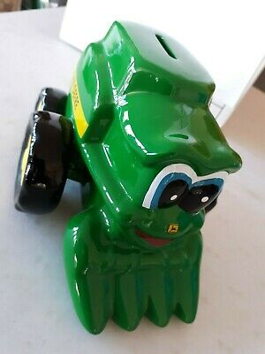 1999 John Deere Combine coin piggy bank with stopper...Cory Combine