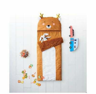 Pillowfort Kid's Deer Character Brown Sleeping Bag