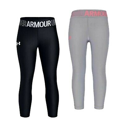 Girls Under Armour Dancewear Yoga Sports Ankle Crop Leggings Sizes from 7 to 13