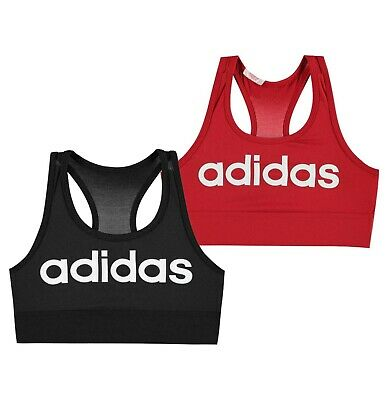 Girls Adidas Training Running Racer Back Top Logo Sports Bra Sizes from 7 to 13