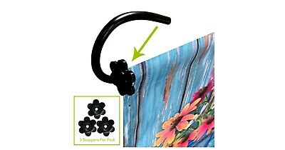 Floral Design Garden Flag Stand Rubber Stoppers (3-pack)
