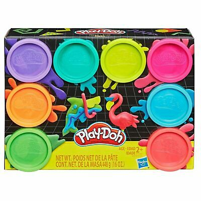 Hasbro PLAY-DOH 8-Pack NEON Colors Non-Toxic Modeling Compound Starter Set