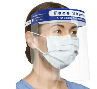 PACK OF 10 Safety Full Face Shield Clear Protector AntiSplash  Industry guard