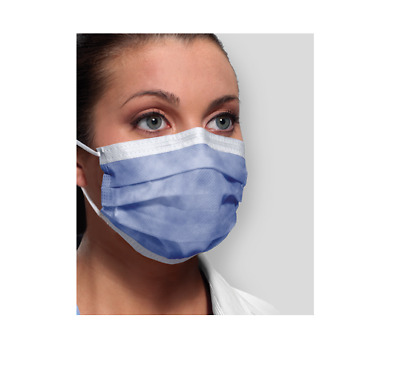 50 Pcs ASTM Level 1 3-ply Earloop Mask Made in USA  AUTHORIZED LISTED-