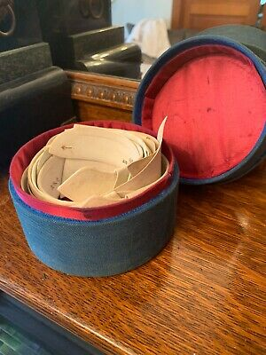 Antique Victorian Mens Shirt Collar Collection In Box