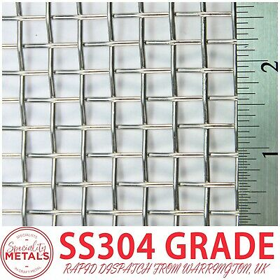 Heavy Duty (3 LPI x 1.6mm = 6.87mm) SS304 Stainless Steel Woven Wire Mesh