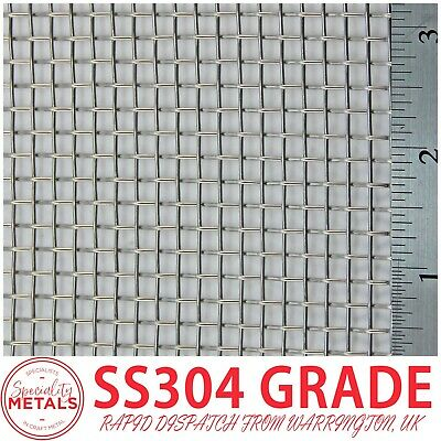 Heavy Duty (5 LPI x 1mm = 4mm) SS304 Stainless Steel Woven Wire Mesh