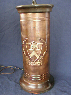 Brushed Copper Finish Stanford University Table Lamp