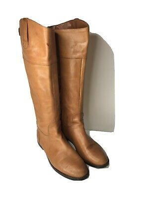 Ralph Lauren Women's Walnut Brown Knee High Riding Boots Size 8 D