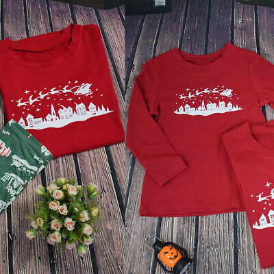 Parent-child Pajamas Suit Christmas Pajamas Winter Home Outfit Tops Pants Jacket