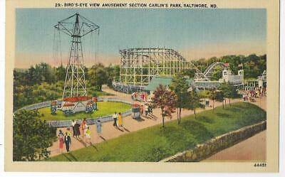 Roller Coaster,Swing Ride,Amusement Section~Carlin's Park~Baltimore,Md