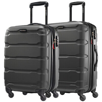 "Samsonite Omni 2-Piece Hardside Luggage 24"" and 20"" Spinner - Black"